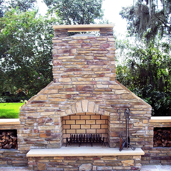 Outdoor fire features fire pits more just grillin for Exterior standalone retail